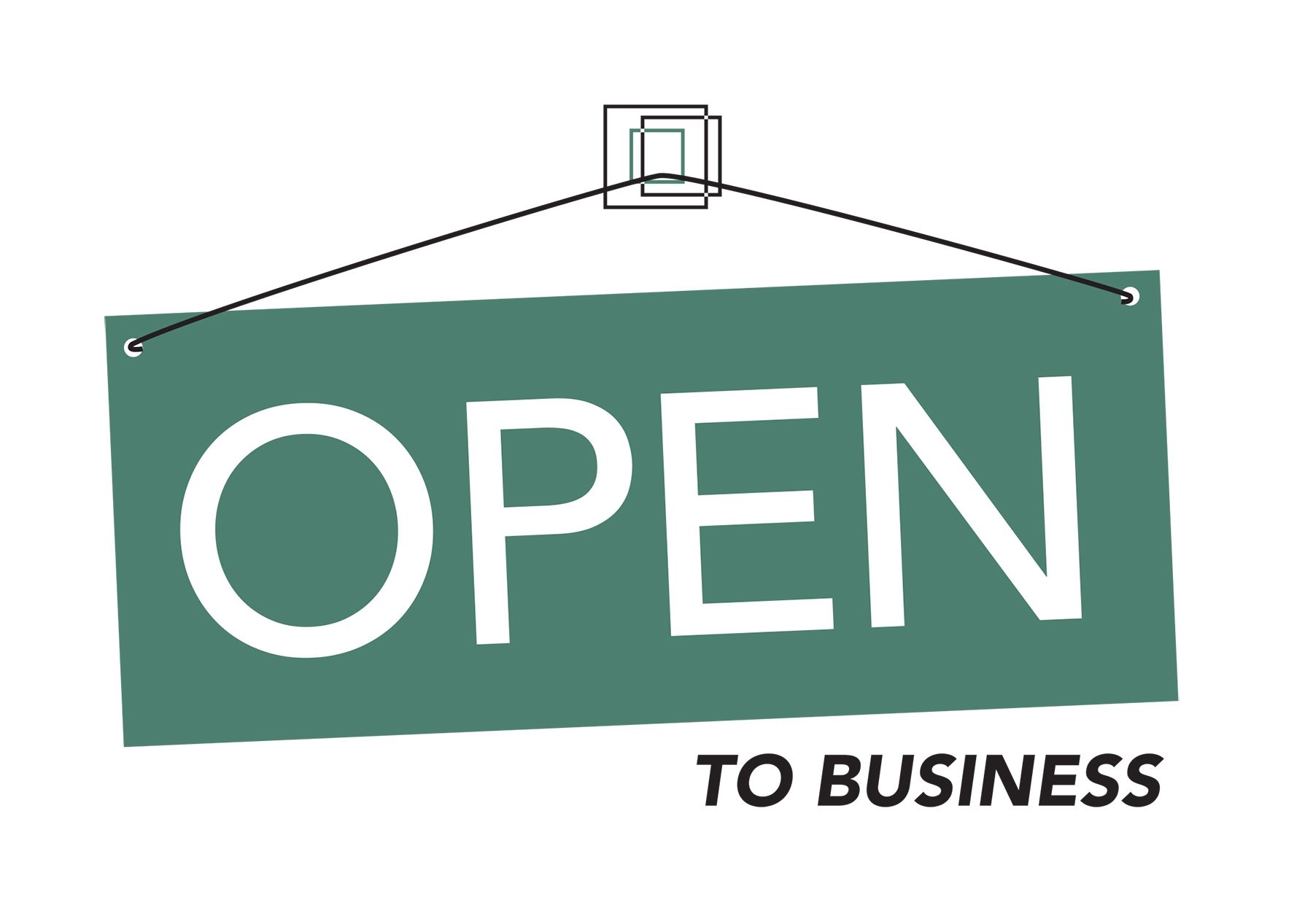 open to business LOGO